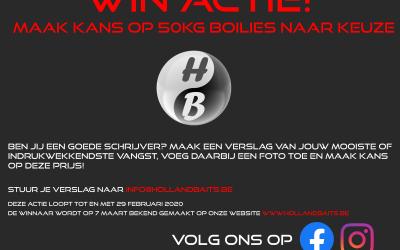 winnaar win-actie 50kg boilies, Zwolle!